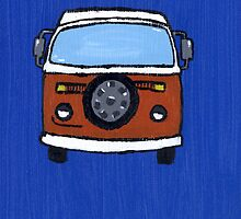 Orange & White VW camper  by vschmidt