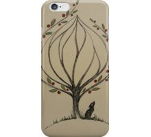 tree and baby wolf iPhone Case/Skin
