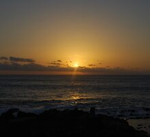 Sunset over South Atlantic ocean, Ascension island by dizzyshell42
