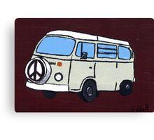 Beige VW Camper Canvas Print
