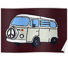 Beige VW Camper Poster