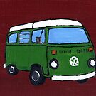 Green VW camper by vschmidt