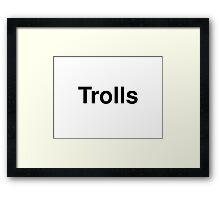 Trolls Framed Print