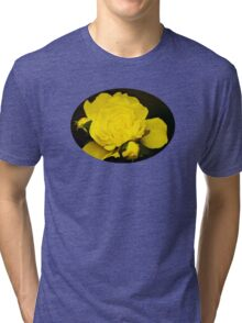 Colorful Yellow Rose Flower Art Tri-blend T-Shirt