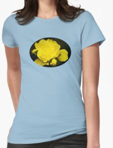 Colorful Yellow Rose Flower Art T-Shirt