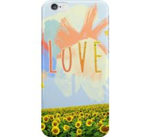 Summertime Sunflower Love iPhone Case/Skin