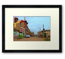 Street in Mwiki - Nairobi, KENYA Framed Print