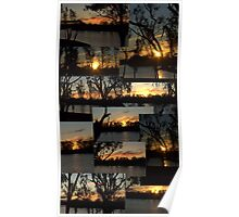 Sunset Collage - River Murray - Loxton Poster