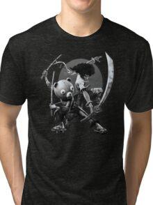black 'n white samurai Tri-blend T-Shirt