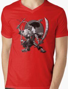 black 'n white samurai Mens V-Neck T-Shirt