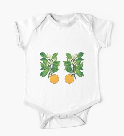 Orange Blossoms One Piece - Short Sleeve