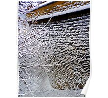 Fortification wall structured by snow Poster
