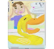 The Little Rubber Ducky Sings Opera In The Bathtub iPad Case/Skin