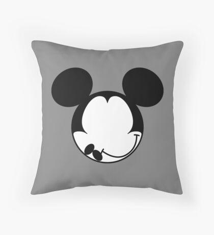 DISMAL MOUSE Throw Pillow