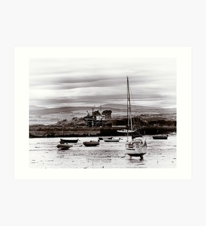 Boats in the Harbour Art Print