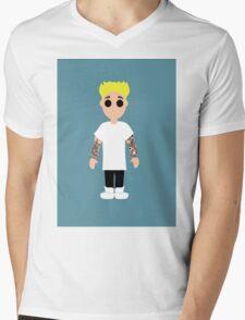 Justin Bieber Ktoon Mens V-Neck T-Shirt