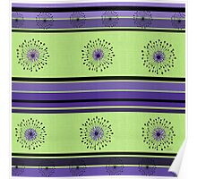 Lime Green and Purple Poster