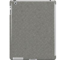 Grey Metal Diamond Plate Texture Pattern Background iPad Case/Skin