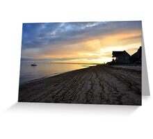 Beach-line Sunset Greeting Card