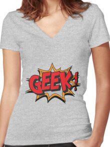 GEEK [UltraHD] Women's Fitted V-Neck T-Shirt