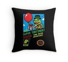 SUPER TORTIMER! Throw Pillow