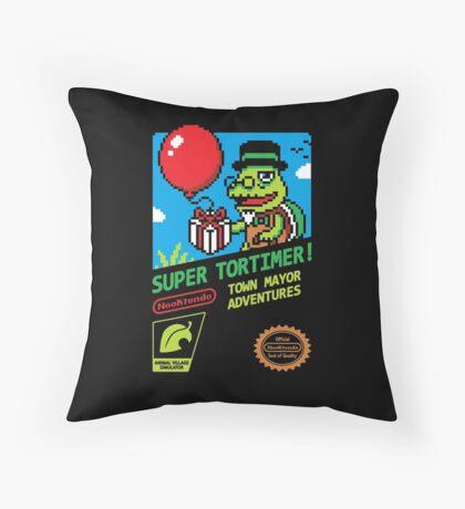 SUPER TORTIMER! Throw Pillow