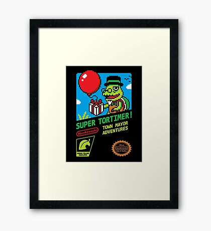 SUPER TORTIMER! Framed Print