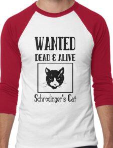Wanted schrodingers cat geek funny nerd Men's Baseball ¾ T-Shirt
