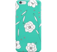 Emerald peonies iPhone Case/Skin