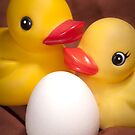 """""""EGGspecting"""" - rubber duckies couple expecting by ArtThatSmiles"""