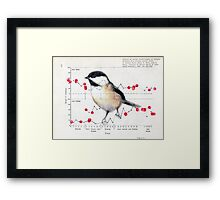 Chickadee and Berries Framed Print