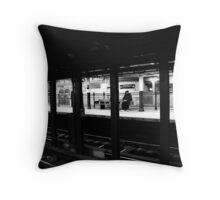 New York City Commuter Throw Pillow