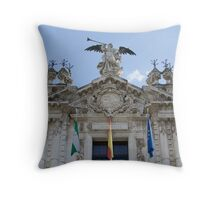 Architecture in Seville, Spain - Real Fábrica de Tabacos Throw Pillow