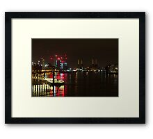 Vauxhall Bridge night view Framed Print