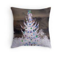 Inverted christmas tree Throw Pillow