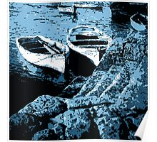 Rowboats in Abstract Poster