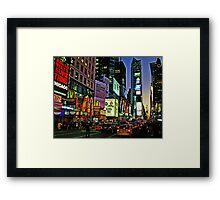 Broadway Framed Print