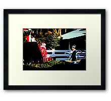 Santa and his Elf:  Framed Print