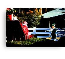 Santa and his Elf:  Canvas Print