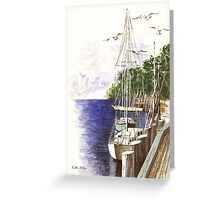 Docked for the Day Greeting Card
