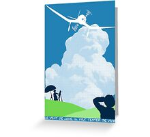 Wind rises Greeting Card