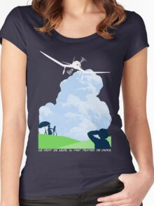 Wind rises Women's Fitted Scoop T-Shirt