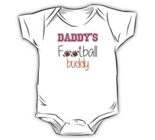 Daddy's Football Buddy (Maroon) One Piece - Short Sleeve