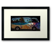 The Travelin' mans colourful van...deceased Framed Print