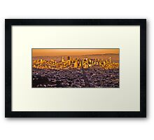 Good Evening San Francisco... Framed Print