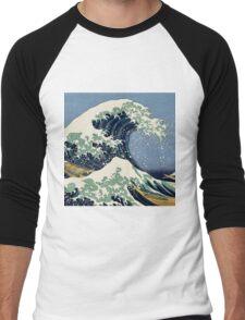 The Great Wave by Katsushika Hokusai Men's Baseball ¾ T-Shirt