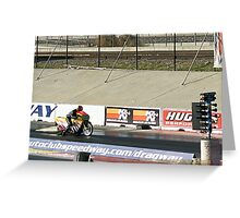 1/4 Mile Drags; Fomoso Raceway; Summit Series Racing; USA Greeting Card