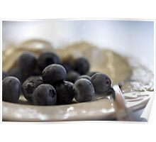 Blueberries & Yoghurt Poster