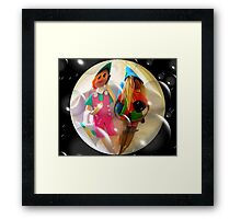 LOST IN THE SPACE-CALLING FOR HELP! Framed Print