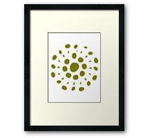 Greenish white spore Framed Print